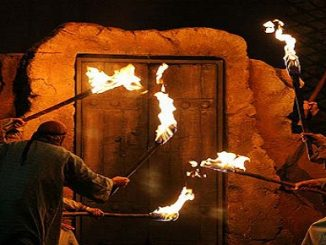 Janabe Zahra Burning door